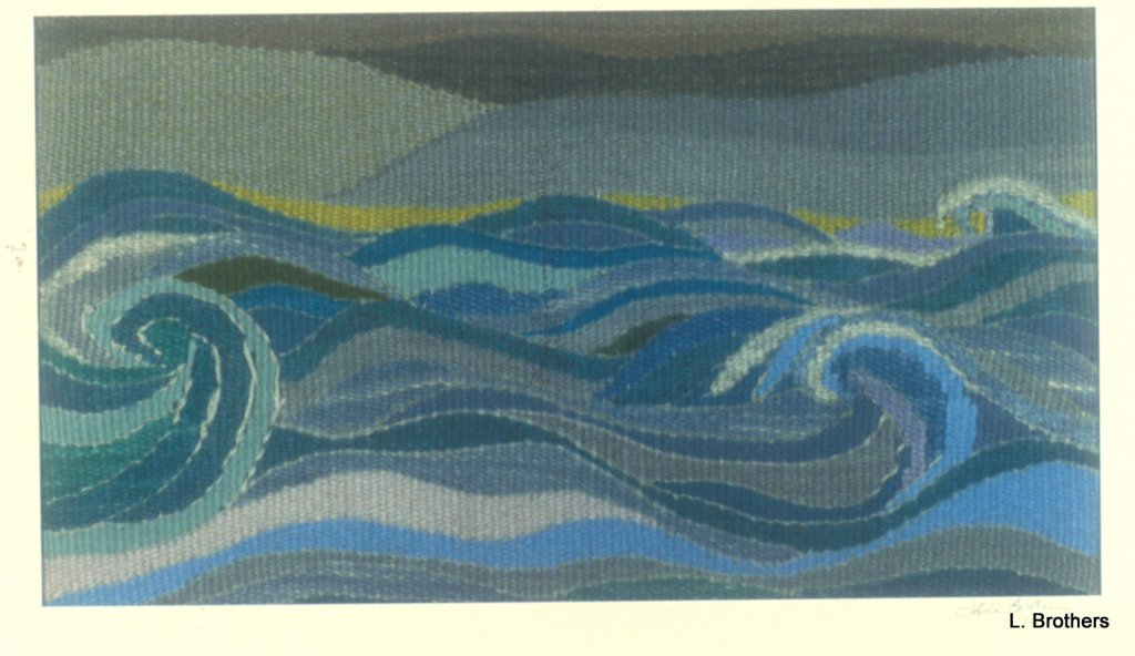 """Storm Waves""  11 7/8"" X 21"" Wool"