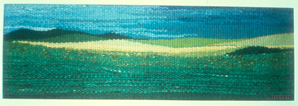 """Before the Rain"" 21 1/8"" X 6 7/8"" Hand-Dyed Wool"
