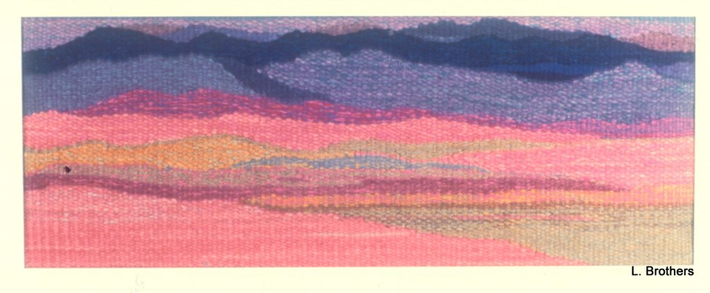 """Violet Dream"" 22"" X 12"" Hand-Dyed Wool"
